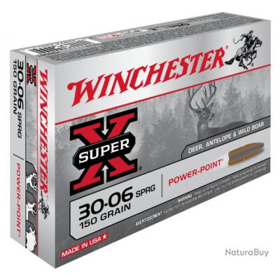 30-06 POWER POINT 150gr Winchester Boite de 20