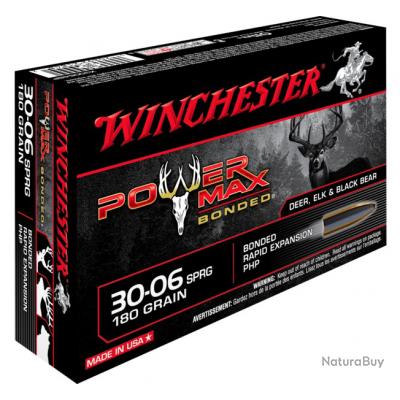 30-06 POWER MAX BONDED 180gr Winchester Boite de 20