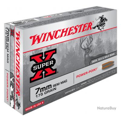 7mmRem POWER POINT 175gr Winchester Boite de 20
