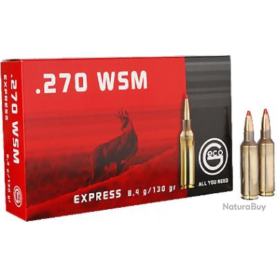 BOITE DE 20 CARTOUCHES GECO 270WSM EXPRESS 8.4GR