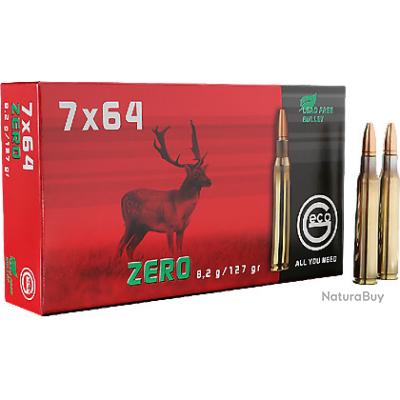 BOITES DE 20 CARTOUCHES GECO 7X64 ZERO 8.2 GR