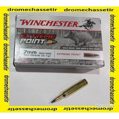 1 boite de 20 cartouches de calibre 7MM Remington Magnum, Winchester Extreme point 140 grains