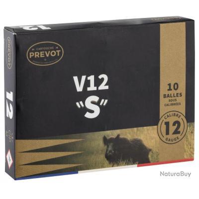 LOT DE 2 BOITES DE 10 BALLES V12 'S' DEMI BLINDEE CAL 12/70  PREVOT