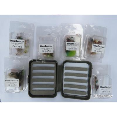 Lot de 72 mouches différentes + 1 boîte flottante