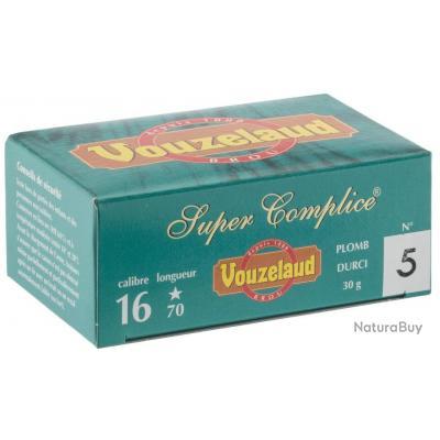 LOT DE 5 BOITES DE 10 CARTOUCHES VOUZELAND SUPER COMPLICE 70 CAL 16/70 P6