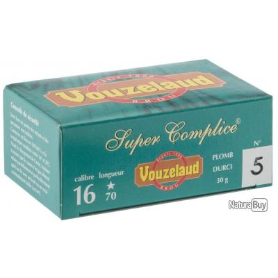 LOT DE 10 BOITES DE 10 CARTOUCHES VOUZELAND SUPER COMPLICE 70 CAL 16/70 P7