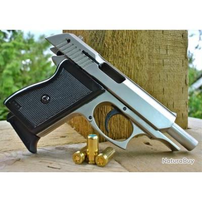 PROMO!! Superbe Pistolet à blanc Ekol Lady calibre 9mm Couleur Gris Satiné + Malette + 10 Balles