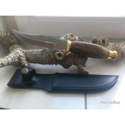 Couteau de chasse Rahan avec étui neuf,couteau de survie , de commando