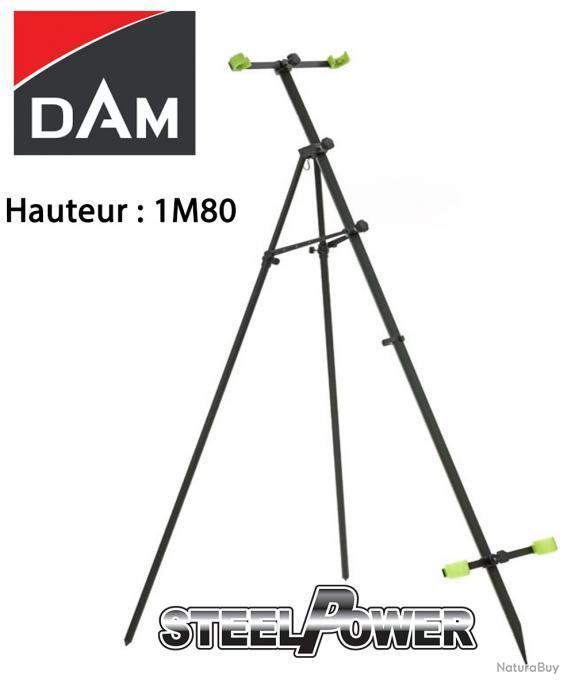 Dame Steelpower Cannes Trépied 1,70m Déferlement des Vagues Porte-Canne //