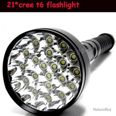 Lampe Torche Projecteur Ultra Puissante 21 Leds 28000 Lumens