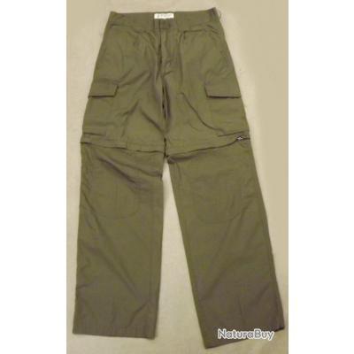 Pantalon convertible safari zippé vert Deerhunter taille 42