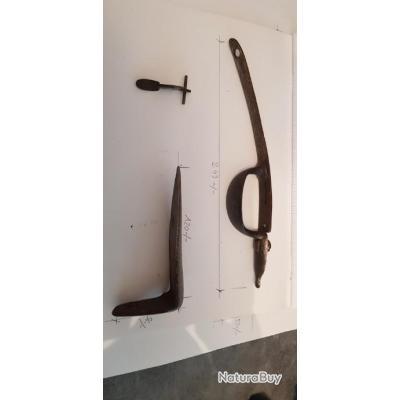 Pieces détachées Fusil à silex 1760. Manufacture Charleville ??