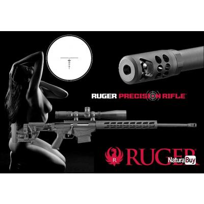 """RUGER PRECISION RIFLE """"PROMO FLA$H CA$H"""" Crosse Pliée et Réglable + FB RCal 6.5 Creedmoor canon 61cm"""