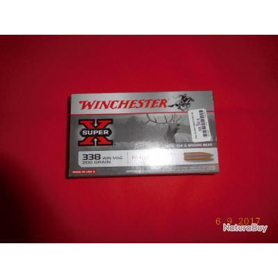 1 boite de Balles calibre 338 WM Winchester, 200 grains, power point,