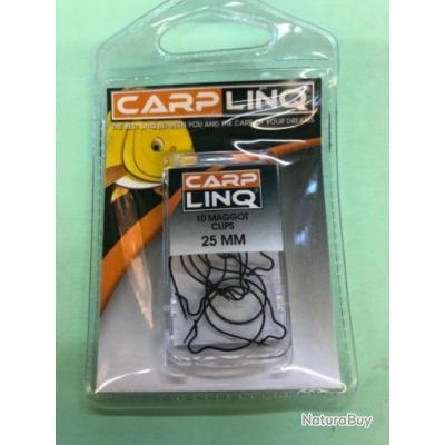 20 maggot clip 25 mm. Anneau à asticot carplinq pêche carpe promo