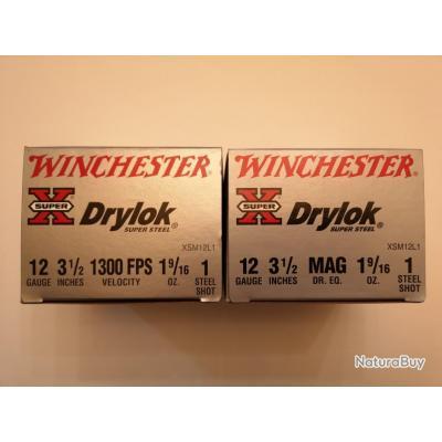 2 bo tes de 25 50 cartouches winchester drylok cal 12 89 bo te grise n 1 super prix. Black Bedroom Furniture Sets. Home Design Ideas