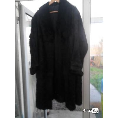 LOT VERITABLES FOURRURES (manteau , sac , peaux , cuir ,morceaux) pour créations