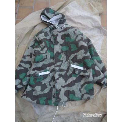 Veste Hiver Reversible Camouflage Blanc Armee Allemande Repro Ww2