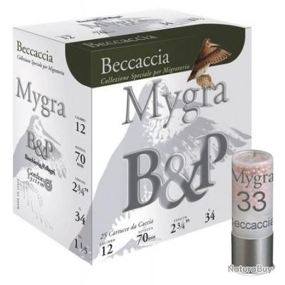 Cartouche CAL 12/70 - MYGRA BECCACIA - n°8.5 - BASCHIERI & PELLAGRI