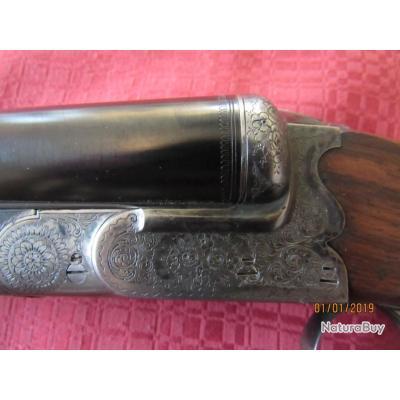 Très beau et rare fusil de luxe artisanal Cal 12 70 avec éjecteurs.