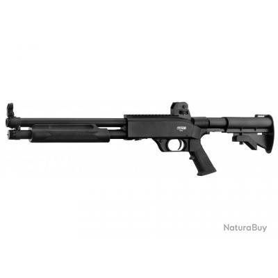 Fusil à pompe de défense 15 coups 16 joules T4E SG68 Walther à CO2 crosse en option