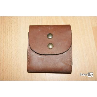 cartouchière étui de ceinture pour 10 balles en cuir gras 110x105mm - VENDU  PAR JEPERCUTE ( 5ab927dbf3a