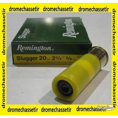 boite de 5 cartouchesRemington Slugger  cal 20/70, 17,7 grammes