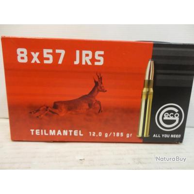 """AXELN2739- 1 BOITE DE 20 BALLES GECO """"TEILMANTEL"""" CAL.8 X 57 JRS. - 185GR - NEUF SUPER PROMO!!!!"""