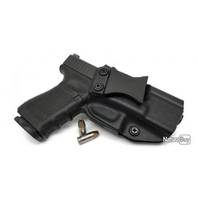 CKS TACTICAL - KYDEX IWB A l'intérieur de la ceinture Étui pour pistolet à droite Couleur noire Main