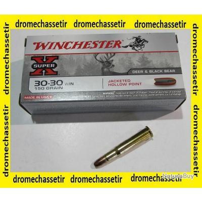 1 boite neuve de 20 cartouches  de calibre 30-30 winchester , Winchester Hollow Point 150 grains