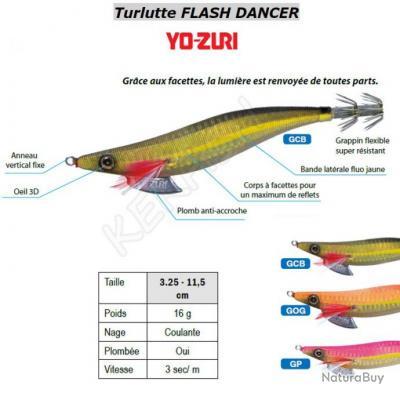 Turlutte FLASH DANCER YO-ZURI Flash Naturel (GCB)
