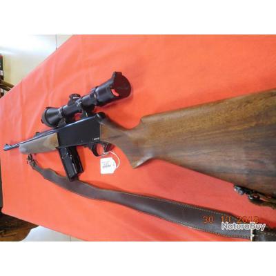 Carabine semi-auto Browning Bar Acier d'occasion 52 cm, lunette Bushnell high contrast 1,5-6, C 803