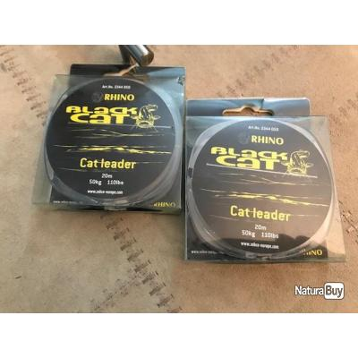 TRESSE BAS LIGNE SILURE BLACK CAT POWER LEADER - 20M