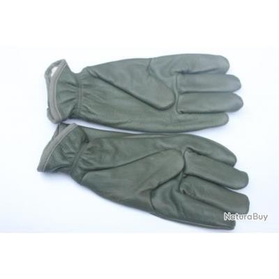 640f90ccb8ded Gants en cuir ( vert) Armée de Terre Française neufs Taille 8.5 (M ...