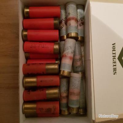 Lot de 27 cartouches calibre 16/67.5