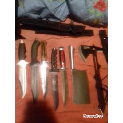 A saisir super 5 couteaux de chasse de qualité ne pas hésiter plus une 20 de couteaux pliant neufvla
