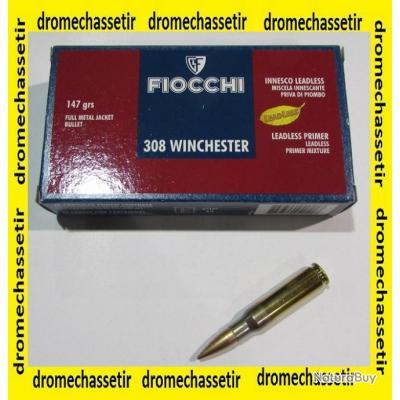1 boite neuve de 20 cartouches  de calibre 308 winchester , Fiocchi 147 grains FMJ