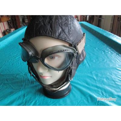 Casque d aviateur + lunette de motard... - Casques (5183127) 823e5dcaf873