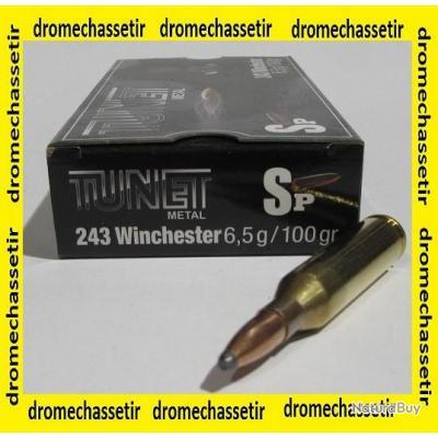1 boites neuve de 20 cartouches tunet  de calibre 243 Winchester, 100 grains , SP