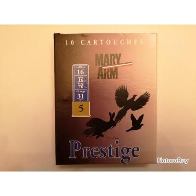 1 boîte de 10 cartouches Mary Prestige cal 16/70 N°5 SUPER PRIX !!!