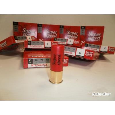 AXEL N363 - LOT DE 100 CARTOUCHES CAL. 12 SUPER SPEED WINCHESTER 36GR  BJ   EN PLOMB N 2  / 4 /6
