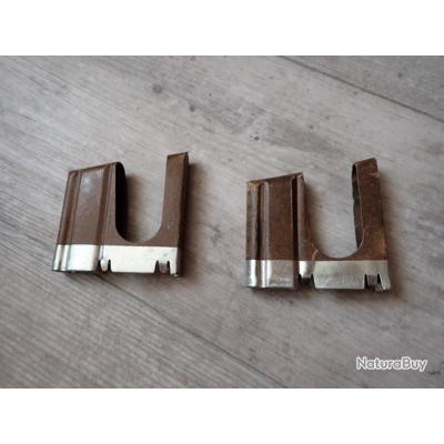 Lot de 2 Clips pour cartouches pour fusil suisse Rubin Schmidt GP11 - K11 - K31