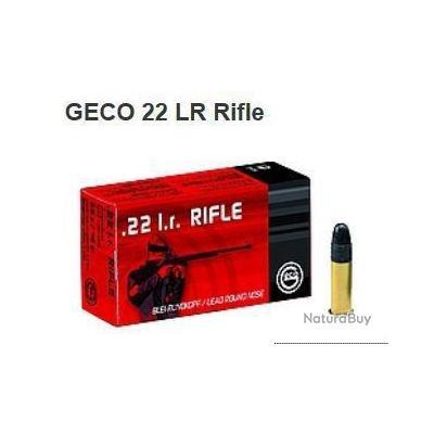 Munitions GECO 22LR Rifle 2.6G 40GR PAR 500