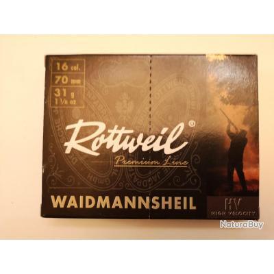 1 boîte de 10 cartouches Rottweil Waidmannsheil HV cal 16/70 N°4 SUPER PRIX !!!