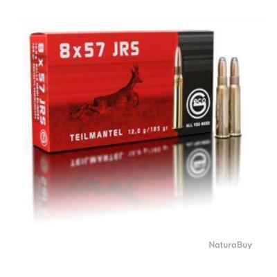 Munitions GECO cal. 8x57 JRS demi blindée Teil Mantel 12G 185GR par 60