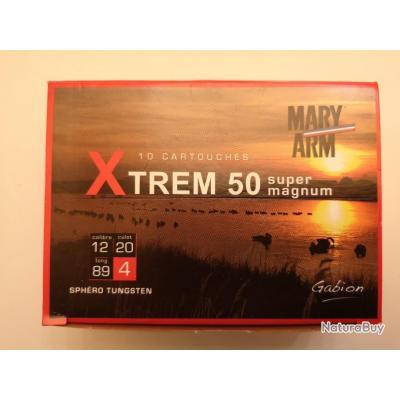 1 boîte de 10 cartouches Mary XTREM 50  cal 12/89 N°4 SUPER PRIX !!!
