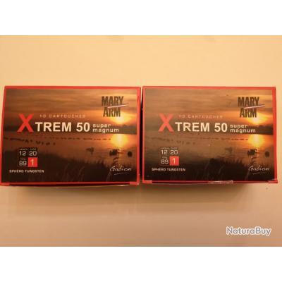 2 boîtes de 10 cartouches Mary XTREM 50  cal 12/89 N°1 SUPER PRIX !!!