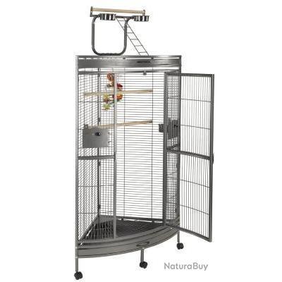Voliere angle cage perroquet cage perruche canari inseparable pinson 13O