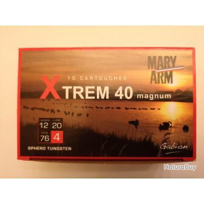1 boîte de 10 cartouches Mary XTREM 40  cal 12/76 N°4 SUPER PRIX !!!