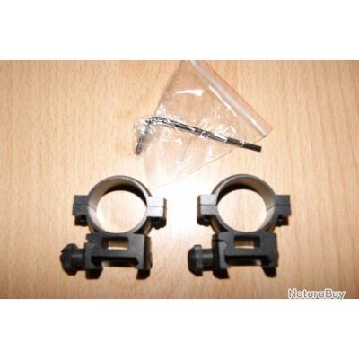 colliers BARSKA montage support lunette point rouge dia 25.4 queue aronde 22mm -VENDU PAR JEPERCUTE